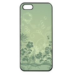 Wonderful Flowers In Soft Green Colors Apple iPhone 5 Seamless Case (Black)