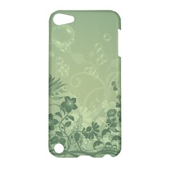 Wonderful Flowers In Soft Green Colors Apple iPod Touch 5 Hardshell Case