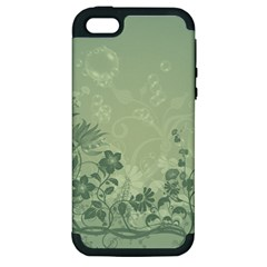 Wonderful Flowers In Soft Green Colors Apple iPhone 5 Hardshell Case (PC+Silicone)