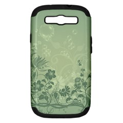 Wonderful Flowers In Soft Green Colors Samsung Galaxy S III Hardshell Case (PC+Silicone)
