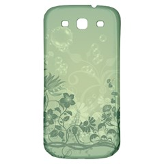 Wonderful Flowers In Soft Green Colors Samsung Galaxy S3 S III Classic Hardshell Back Case