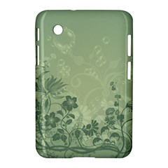 Wonderful Flowers In Soft Green Colors Samsung Galaxy Tab 2 (7 ) P3100 Hardshell Case