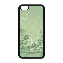 Wonderful Flowers In Soft Green Colors Apple iPhone 5C Seamless Case (Black)