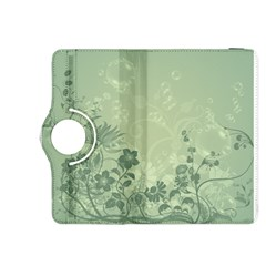 Wonderful Flowers In Soft Green Colors Kindle Fire HDX 8.9  Flip 360 Case