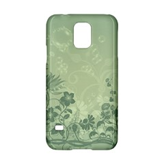 Wonderful Flowers In Soft Green Colors Samsung Galaxy S5 Hardshell Case