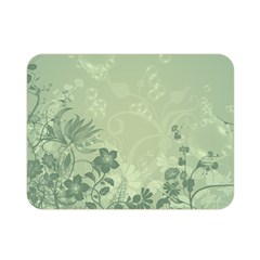 Wonderful Flowers In Soft Green Colors Double Sided Flano Blanket (Mini)