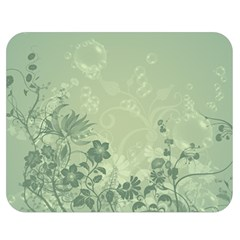 Wonderful Flowers In Soft Green Colors Double Sided Flano Blanket (Medium)