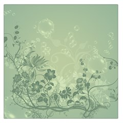 Wonderful Flowers In Soft Green Colors Large Satin Scarf (Square)