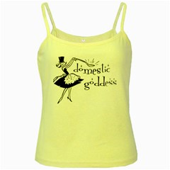 Domestic Goddess Yellow Spaghetti Tanks