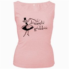 Domestic Goddess Women s Pink Tank Tops
