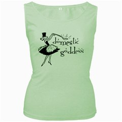 Domestic Goddess Women s Green Tank Tops