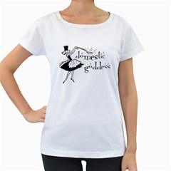 Domestic Goddess Women s Loose Fit T Shirt (white)
