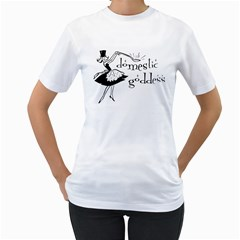Domestic Goddess Women s T Shirt (white)