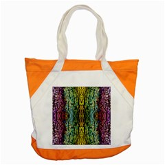 Abstract, Yellow Green, Purple, Tree Trunk Accent Tote Bag