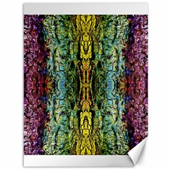 Abstract, Yellow Green, Purple, Tree Trunk Canvas 36  x 48