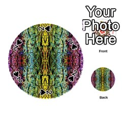 Abstract, Yellow Green, Purple, Tree Trunk Playing Cards 54 (round)