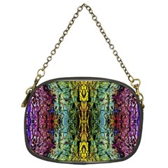 Abstract, Yellow Green, Purple, Tree Trunk Chain Purses (Two Sides)