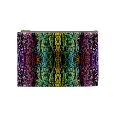 Abstract, Yellow Green, Purple, Tree Trunk Cosmetic Bag (Medium)