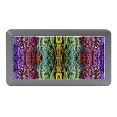 Abstract, Yellow Green, Purple, Tree Trunk Memory Card Reader (Mini)