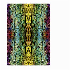 Abstract, Yellow Green, Purple, Tree Trunk Large Garden Flag (Two Sides)