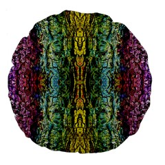 Abstract, Yellow Green, Purple, Tree Trunk Large 18  Premium Flano Round Cushions