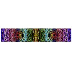 Abstract, Yellow Green, Purple, Tree Trunk Flano Scarf (Large)