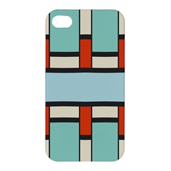 Vertical and horizontal rectangles Apple iPhone 4/4S Hardshell Case