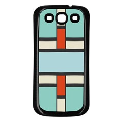 Vertical and horizontal rectangles			Samsung Galaxy S3 Back Case (Black)