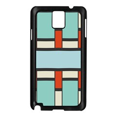 Vertical and horizontal rectangles			Samsung Galaxy Note 3 N9005 Case (Black)