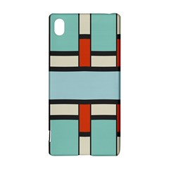 Vertical and horizontal rectangles			Sony Xperia Z3+ Hardshell Case