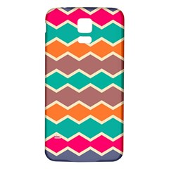 Colorful chevrons pattern			Samsung Galaxy S5 Back Case (White)