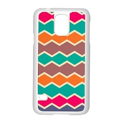 Colorful chevrons pattern			Samsung Galaxy S5 Case (White)