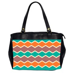 Colorful chevrons pattern Oversize Office Handbag (2 Sides)