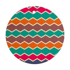 Colorful chevrons pattern			Ornament (Round)