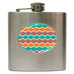 Colorful chevrons pattern			Hip Flask (6 oz)