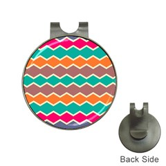 Colorful chevrons pattern			Golf Ball Marker Hat Clip