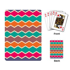 Colorful chevrons patternPlaying Cards Single Design