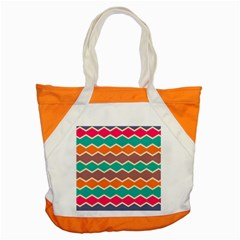 Colorful chevrons patternAccent Tote Bag