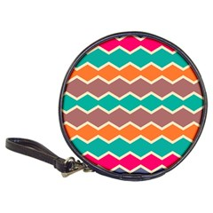 Colorful chevrons patternClassic 20-CD Wallet
