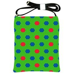 Honeycombs patternShoulder Sling Bag