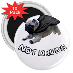 Do Pugs 3  Magnets (10 pack)