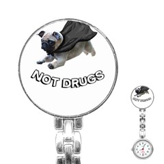 Do Pugs Stainless Steel Nurses Watches
