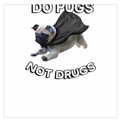 Do Pugs Large Satin Scarf (square)
