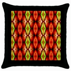 Melons Pattern Abstract Throw Pillow Cases (Black)
