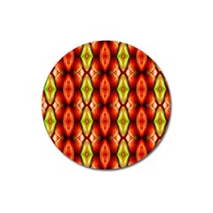Melons Pattern Abstract Magnet 3  (Round)