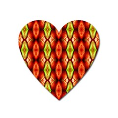 Melons Pattern Abstract Heart Magnet