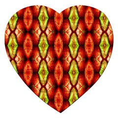 Melons Pattern Abstract Jigsaw Puzzle (Heart)