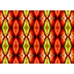 Melons Pattern Abstract Birthday Cake 3d Greeting Card (7x5)