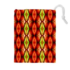 Melons Pattern Abstract Drawstring Pouches (Extra Large)