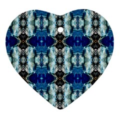 Royal Blue Abstract Pattern Ornament (Heart)